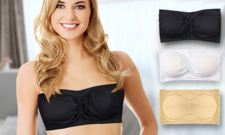 Set of Three Seamless Bandeau Bras With Removable Pads for £7.99