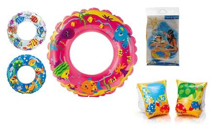Zwemvleugeltjes en zwemband met vissen
