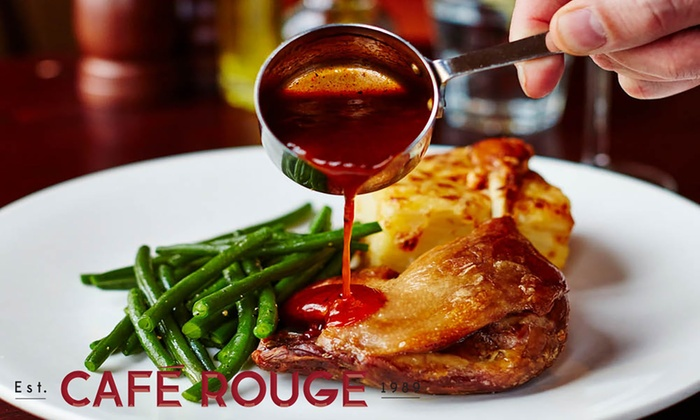 Café Rouge - Multiple Locations: Choice of Main Course with Drinks for Two or Four at Café Rouge, Multiple Locations (Up to 50% Off)
