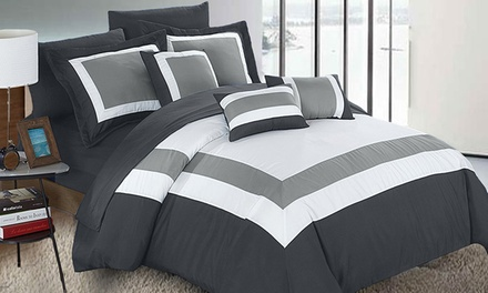 $89 for Queen or King 10Piece Modern Comforter and Sheets Set in Choice of Colours