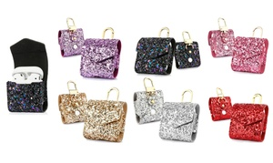 AirPods Glitter Carrying Case with Secure Magnetic Closure