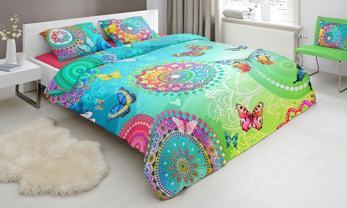 Housse de couettes color e hip groupon - Housse de couette coloree ...