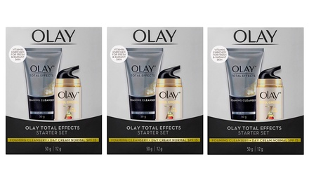 $22.95 x Olay Total Effects Antiaging Foaming Cleanser & Day Creams Don't Pay $44.97