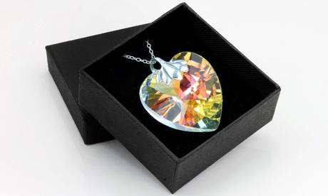 1 o 2 colgantes Aurora Borealis con cristal de Swarovski® Oferta en Groupon