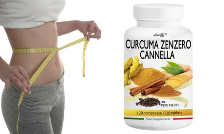 Hasta 720 tabletas de suplemento Line@ a base de cúrcuma, jengibre, canela y pimienta negra que ayudan a perder peso