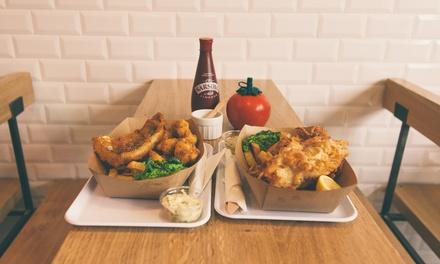 Menu fish and chips classique avec softs pour 2 ou 4 personnes dès 24,90 € au restaurant The Sunken Chip, 10e