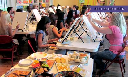 image for BYOB Painting Class for One or Two People at The Party Studio (Up to 37% Off)