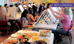 Up to 37% Off BYOB Painting Class at The Party Studio at The Party Studio, plus 6.0% Cash Back from Ebates.