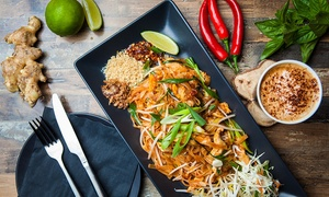 Blue Moon Cafe: Thai Meal with Soft or Hot Drink for One ($10), Two ($20), or Four People ($40) at Blue Moon Cafe (Up to $80 Value)