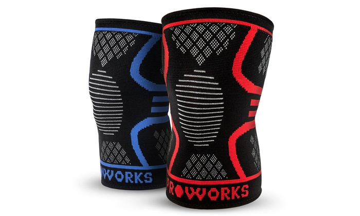 One or Two ProWorks Knee Compression Sleeves from £2.69