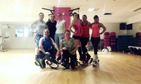 One or Three 45-Minute Sessions of High-Intensity Kangoo Jump Class at Superwoman Pole Dancing School (Up to 38% Off)