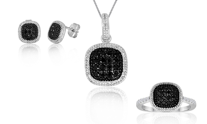 Black and White Cubic Zirconia Fashion Jewelry : Black and White Cubic Zirconia Fashion Earrings, Pendant, or Ring. Free Returns.
