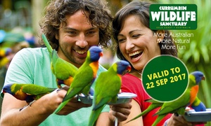 Currumbin Wildlife Sanctuary: Currumbin Wildlife Sanctuary Entry for One ($29), Two ($55) or Four People ($99) (Up to $199.80 Value)