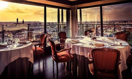 Menú para 2 o 4 con entrante, principal, postre y botella de vino desde 59,95 € en Restaurante Panorámico Al Zagal