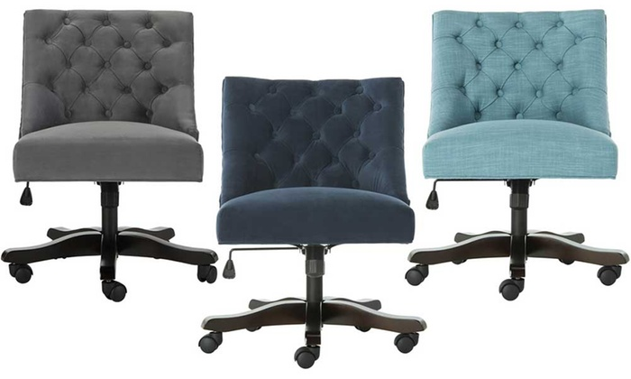 Astonishing Up To 26 Off On Safavieh Swivel Desk Chairs Groupon Goods Ocoug Best Dining Table And Chair Ideas Images Ocougorg