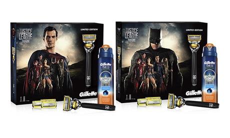 Set con rasoio Gillette Fusion ProGlide Justice League disponibile in 2 modelli