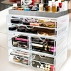 Silver and Gold Sorbus Cosmetic Organizer X-Large Display Sets