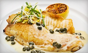 $29 For French Dinner Cuisine For Two A Bottle Of Wine (up To $71.80 Value)