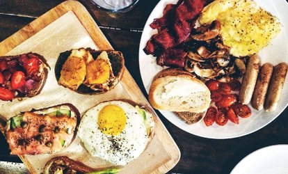 image for English Breakfast with Toast and Tea or Coffee at The Hub Of Northampton (Up to 44% Off)