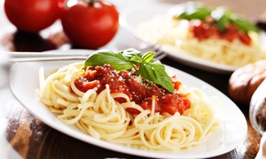 Luna Italia: Two or Four Italian Entrees and Glasses of House Wine for Dinner at Luna Italia Restaurant (Up to 48% Off)