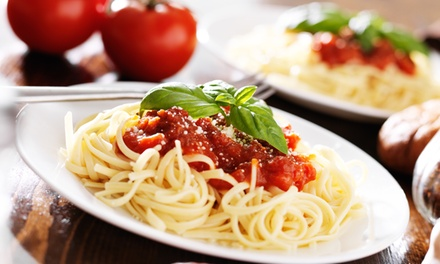 Two or Four Italian Entrees and Glasses of House Wine for Dinnerat Luna Italia Restaurant (Up to 48% Off)