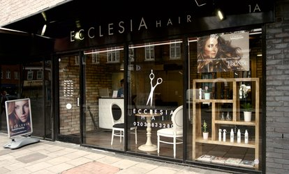 image for Wash, Cut and Blow-Dry with Optional Half Head Highlights at Ecclesia Hair (Up to 67% Off)