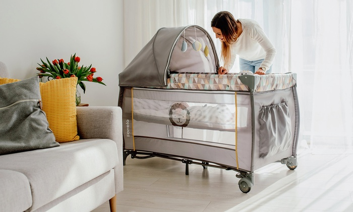 Lionelo Sven Plus Travel Bed with Accessories With Free Delivery