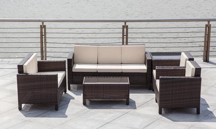 Six-Piece Rattan-Effect Furniture Set for £599