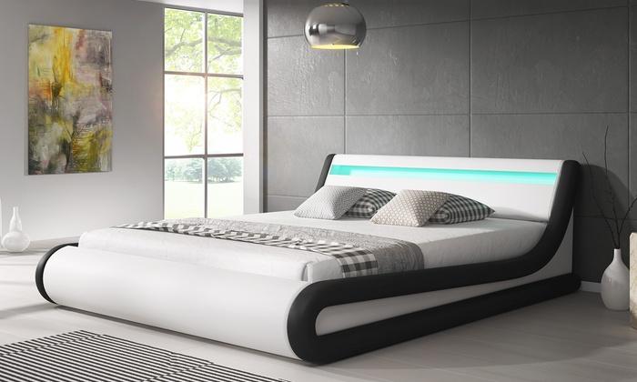 luxus designer led polsterbett groupon goods. Black Bedroom Furniture Sets. Home Design Ideas