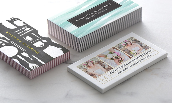 Zazzle: 100 or 200 Standard or Ultra-Thick Personalized Business Cards from Zazzle (Up to 57% Off)