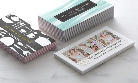 100 or 200 Standard or Ultra-Thick Personalized Business Cards from Zazzle (Up to 57% Off)