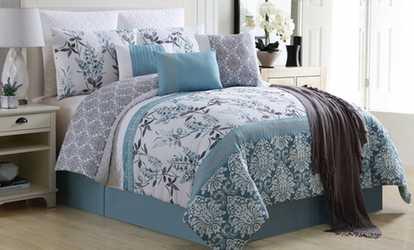 Shop Groupon Oversized Comforter Set With Throw (10 Piece)