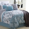 Oversized Comforter Set with Throw (10-Piece)