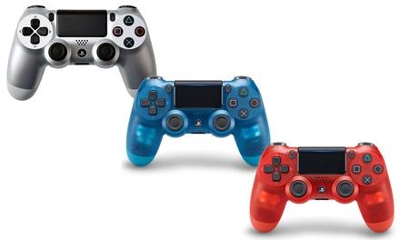 1 ou 2 manettes Sony DualShock 4 V2, éditions limitées Crystal Red et Crystal Blue  (SaintEtienne)