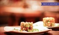 Exklusives 4-Gänge-Gourmet-Menü mit Kalbsfilet-Medaillons vom Teppanyaki-Grill für Zwei im Restaurant Red Chamber