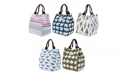 One, Two, Three or Four Canvas Thermal Lunch Bags