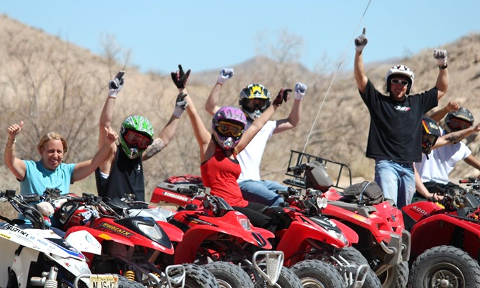 Las Vegas ATV Tours - Las Vegas Motor Speedway: Nellis Dunes ATV Tour for One or Two from Las Vegas ATV Tours (Up to 62% Off)