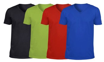 Men's 100% Cotton V-Neck T-Shirt (Sizes S-5XL)