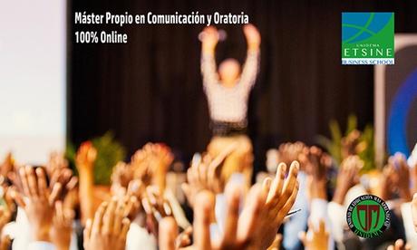 Máster online en comunicación y oratoria con Unidema (hasta 99% de descuento)