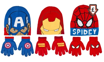 Kids' CharacterThemed TwoPiece Hat and Glove Sets for £3.98