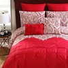 Elanza Kiss Pleat Comforter Set with Euro Pillows (10-Piece)