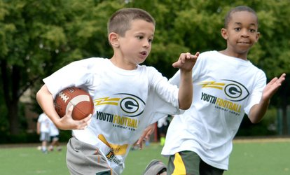 Green Bay Packers Non-Contact Instructional Five-Day Youth Football Camp for Ages 6–14 (Full- or Half-Day Options)