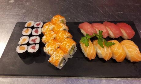 Menú tradicional o prémium para 2 o 4 personas con entrante, piezas de sushi y bebida en Hayama Sushi & Ramen