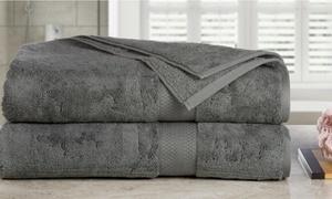 AeroSoft 700GSM Oversized Combed-Cotton Bath Sheets (2-Pack)