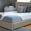 """2.5"""" or 3"""" Cooling Gel Memory Foam Topper with 300TC Cover"""