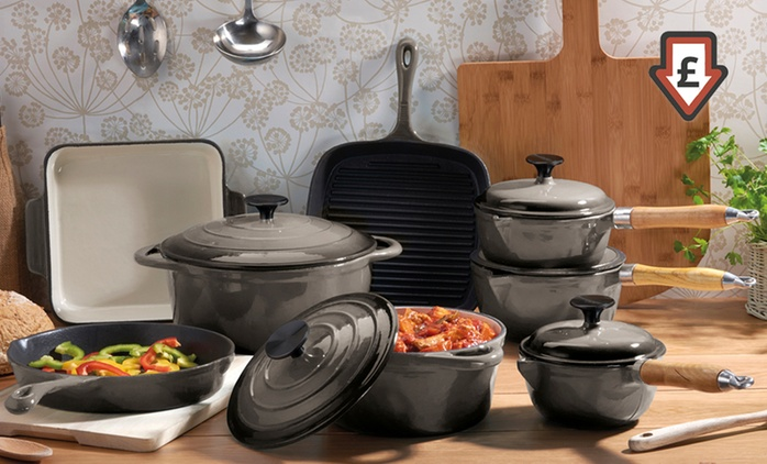 Cooks Professional Special Offer Cast Iron Pan Set: 3- (£44.99), 5- (£87.97) or 8-Piece (£129.98) With Free Delivery