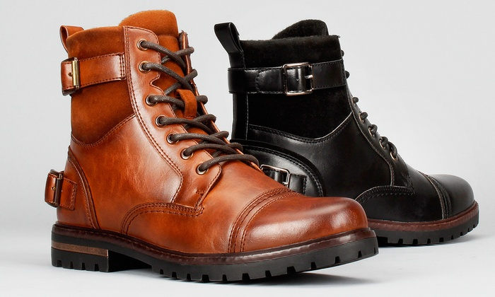 Harrison Men S Belted Combat Boots