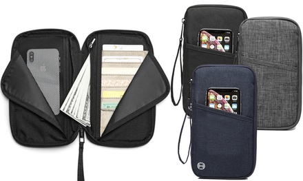 RFID-Blocking Travel Wallet