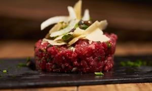 RISTORANTE LA PIAZZETTA: Menu hamburger gourmet con hangus o pesce spada per 2 o 4 persone da Ristorante La Piazzetta (sconto fino a 69%)