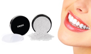 Amore Activated Charcoal Mint Teeth Whitening Powder